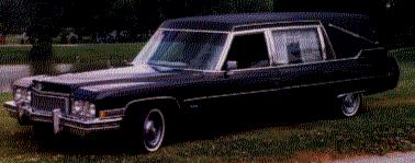 Nick Bliss's 1973 Cadillac hearse
